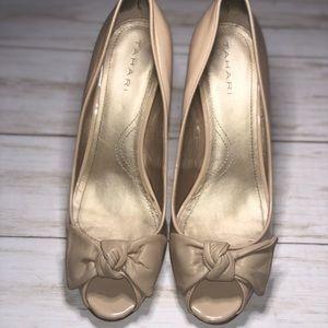 Tahari Tan Patent & Leather Heel